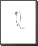 Owl Framed Print Mount by Pablo Picasso