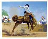 Bucking Bronco Sammlerdrucke von Frank Wootton