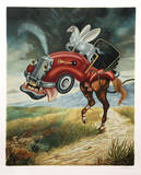 Half Horsepower Serigraph by Israel Rubinstein