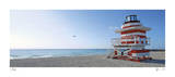 Jetty Lifeguard Stand Giclee Print by John Gynell