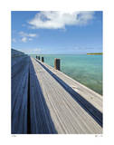 Bonefish Lodge Dock Giclee Print by John Gynell