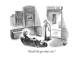"""Dead? He gets that a lot."" - New Yorker Cartoon Premium Giclee Print by Frank Cotham"