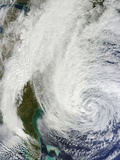 Hurricane Sandy (18L) Off the Eastern United States Photographic Print