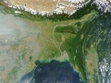 Satellite View of Bangladesh and the Ganges-Brahmaputra Delta Photographic Print
