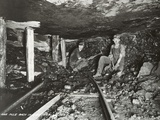 Men Working One Mile Back in Mine Photographic Print