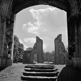 Glastonbury Abbey, Glastonbury, Somerset, View of the Two Piers Photographic Print