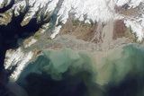 Satellite View of Alaska's Copper River Delta Photographic Print