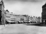 Cirencester, Gloucestershire, Looking Down the Market Place from the Parish Church Photographic Print by Henry Taunt