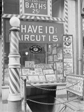 Barber Shop in the Bowery Photographic Print