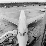 Heathrow Airport, Greater London, a Boac Aircraft with Boarding Steps to Left at Heathrow Airport Photographic Print by John Gay