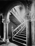 Cressingham Park, Reading, Berkshire, Interior of the Staircase Hall Photographic Print by H. Bedford Lemere