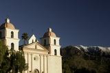 Old Mission Santa Barbara and Santa Ynez Mountains Photographic Print