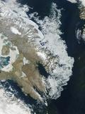 Ice Along Coastline of Baffin Island Photographic Print