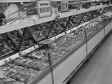 1950s Grocery Store Meat Section Photographic Print