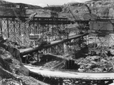 Grand Coulee Dam Being Constructed Photographic Print