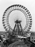 Great Wheel, Earls Court, London, a View from the Railway of the 310 Feet High Wheel Photographic Print