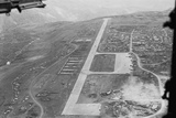 Aerial View of Airstrip and Air Force Base Photographic Print