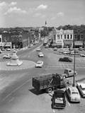 1950s Main Street of Small Town America Town Square Lebanon Tennessee Photographic Print