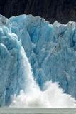 Icebergs Calving from Glacier, Alaska Photographic Print