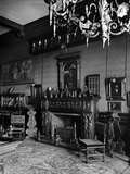 Bath House, 82 Piccadilly, London, Interior View, the Fireplace in the Red Room at Bath House Photographic Print by H. Bedford Lemere