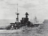 British Warship Barham at Sea Photographic Print