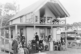 Men and Women Outside a Boarding House Photographic Print