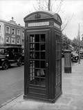 Telephone Box, Ladbroke Grove, Kensington, London Photographic Print by H. Bedford Lemere