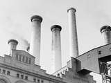 Edison Power Plant on East River Photographic Print