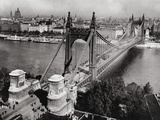 Bridge over Danube River of Budapest Photographic Print