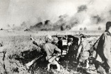 German Anti-Tank Gun (Probably 50Mm or 75Mm) in Russia Photographic Print