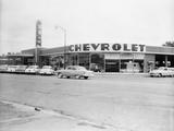 Exterior of Car Dealership Photographic Print