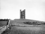 Broadway Tower, Worcestershire, Looking Up the Hill Toward the Folly Tower Photographic Print by Henry Taunt