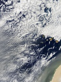 Cloud Vortices Off Madeira and Canary Islands Photographic Print