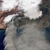 Ash Plume at Eyjafjallajokull Volcano Photographic Print