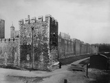 Tower of London, Exterior View of Develin Tower Photographic Print by H. Bedford Lemere