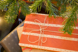 Close-Up of Christmas Gifts under the Tree Photographic Print