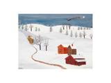 Chagal's Santa Kunst von Alexa Alexander