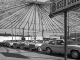 1970s Cars for Sale in Outdoor Ok Used Car Lot Photographic Print