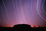 Ayers Rock and Star Trails, Ulru - Kata Tjuta National Park, Australia Photographic Print