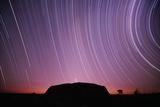 Ayers Rock and Star Trails, Ulru - Kata Tjuta National Park, Australia Photographic Print