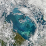 Phytoplankton Bloom in the Barents Sea Photographic Print
