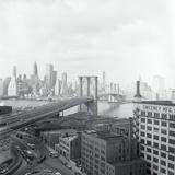 Brooklyn Bridge Site to City Photographic Print