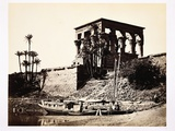 Kiosk of Trajan and Early Nice Cruise Boat Photographic Print by Francis Frith
