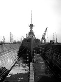 Cammell Laird Shipyard, Merseyside, General View Showing a Ship in Drydock Photographic Print by H. Bedford Lemere