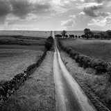 A Long Straight Country Road Near Stamfordham, Northumberland Lámina fotográfica por John Gay