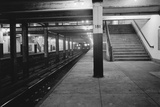 Empty Subway Station at 181st Street Photographic Print