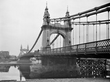 Hammersmith Bridge, Barnes, Greater London Photographic Print by Henry Taunt