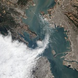 Satellite View of a Foggy Day in San Francisco Photographic Print