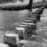 Ambleside, Lake District, Cumbria, General View of Stepping Stones in Ambleside Photographic Print by Eric De Mere