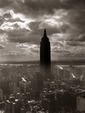 1930s-1940s Empire State Building New York City in Storm Cloud Cover Photographic Print
